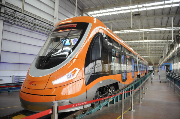 Fuel cell hybrid modern tram demonstrates the application